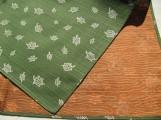 Schildkröte und Kraniche Grün/Orange